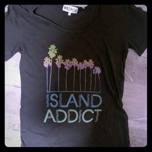Long wildfox ocean addict palm tree cover up tee